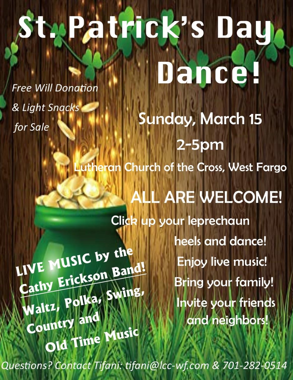 St Patrick's Day Dance flyer March 2020 portrait (004)